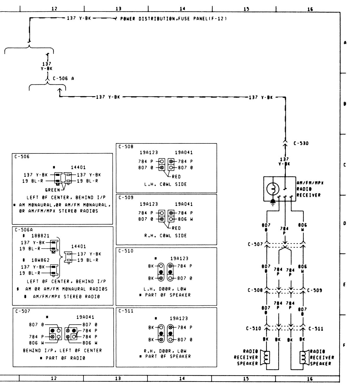 help wiring a 79 am fm to a power booster equalizer the rh fordification com 1987 Toyota Wiring Harness Diagram 7-Way Trailer Wiring Harness Diagram