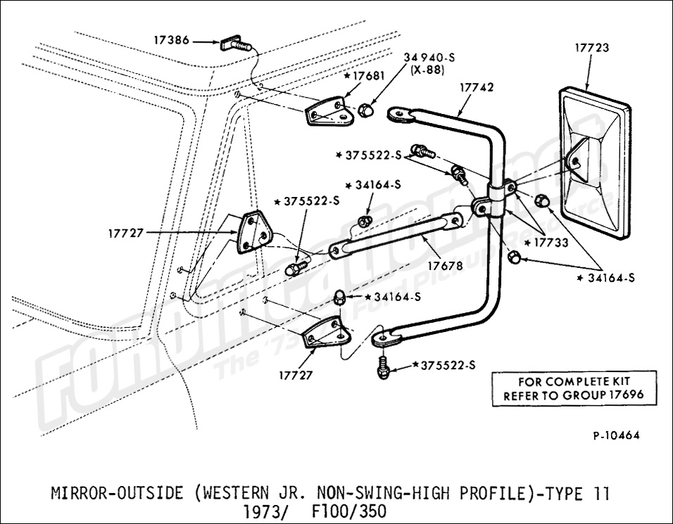 Ford Truck Part Numbers Mirrors And Related Parts
