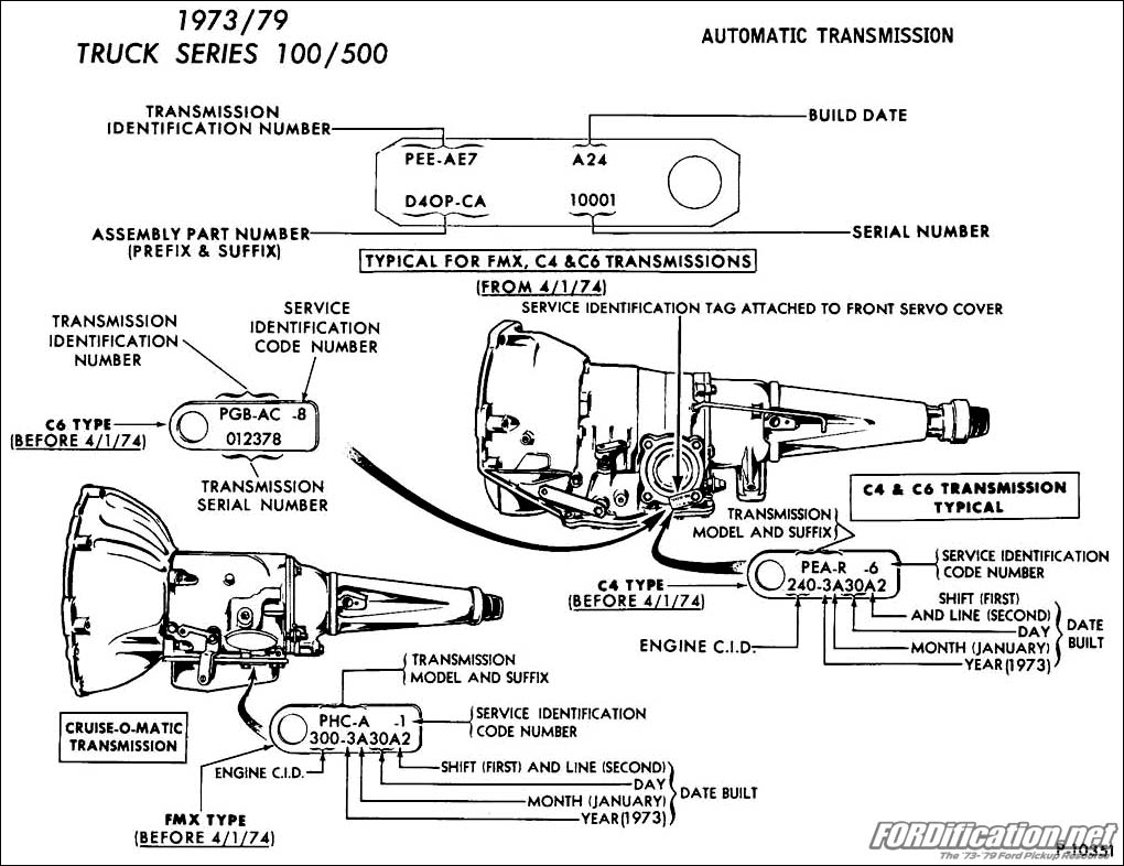 1973-1979 Ford Truck/Van Automatic Transmission Application Chart ...