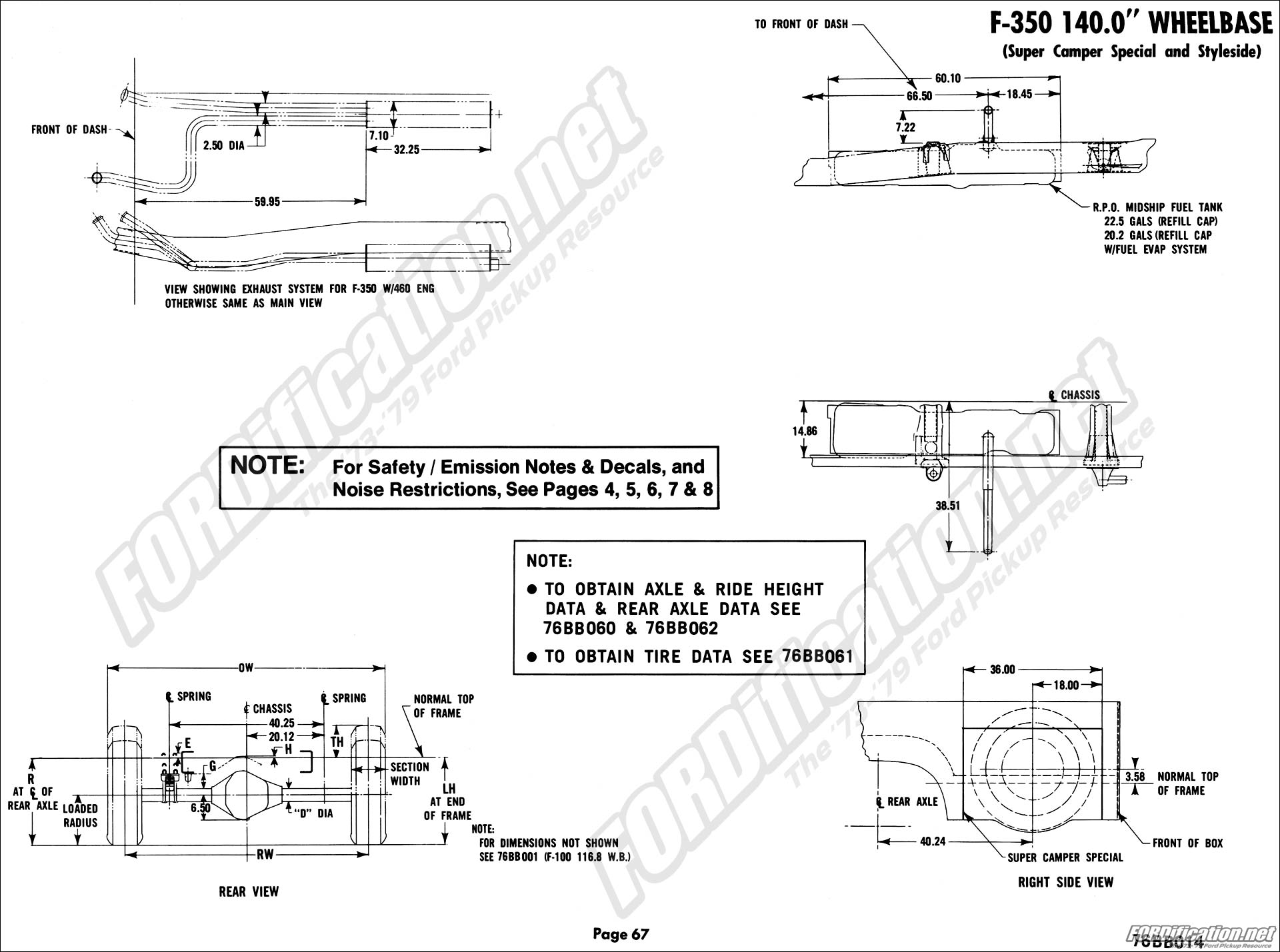 chassis_f350scs_02 1976 ford body builder's layout book fordification net