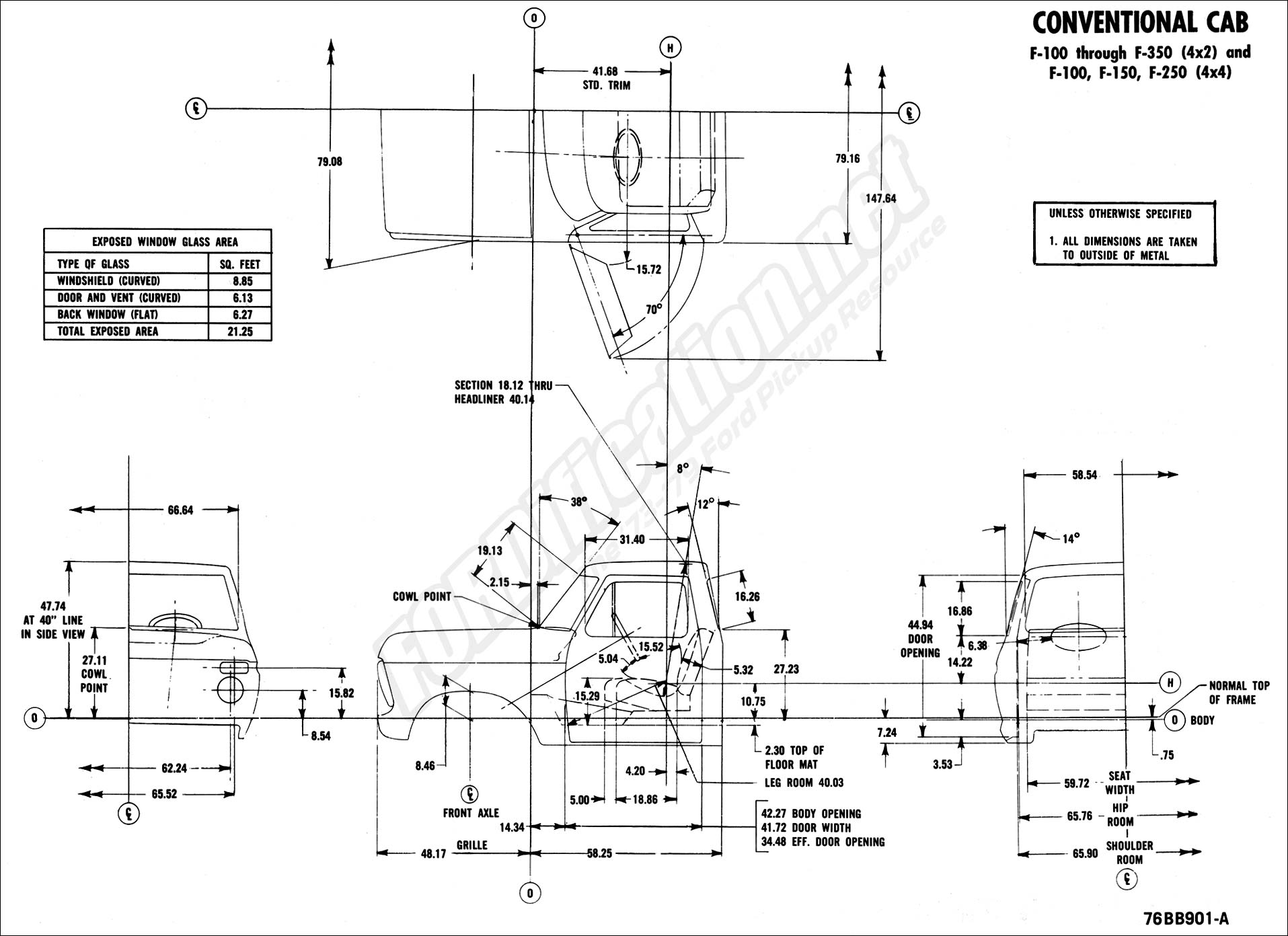 73-79 grille dimensions