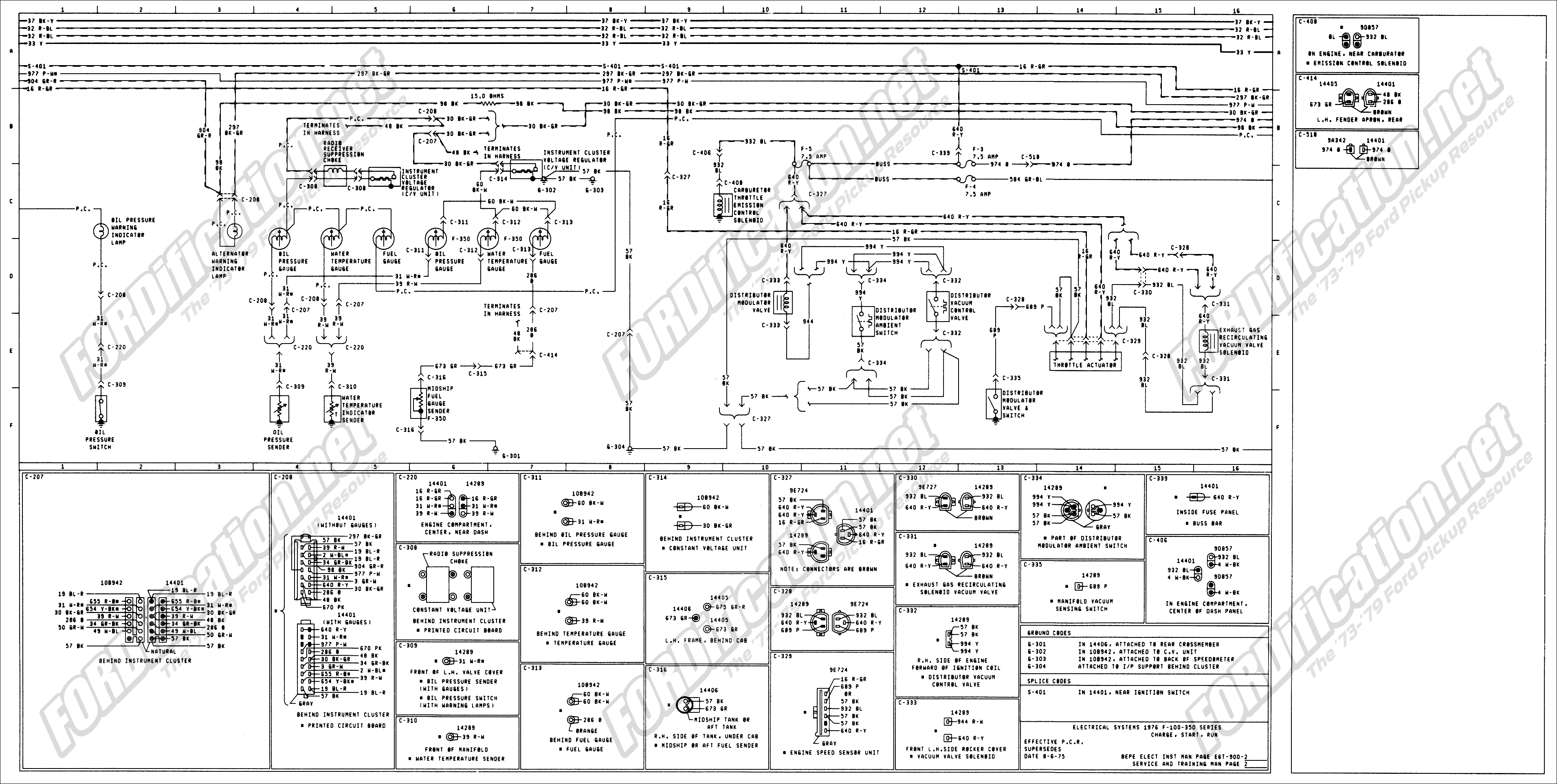 1979 f350 wiring diagram 1979 ford wiring diagram #4