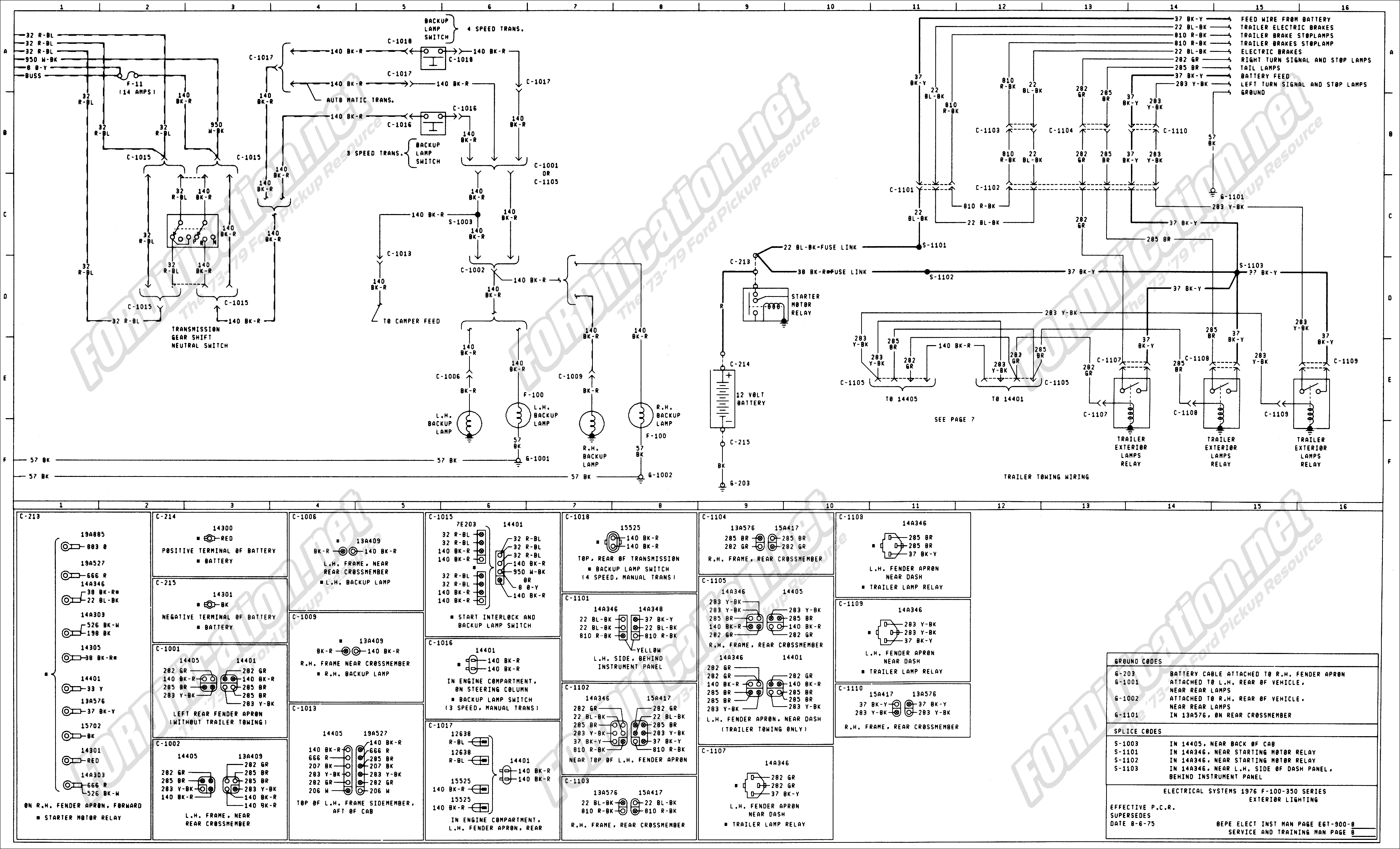 electrical wiring diagrams ford lincoln turn signal & flasher / brakes light fuses blowing out ... wiring diagrams ford f53 blinker