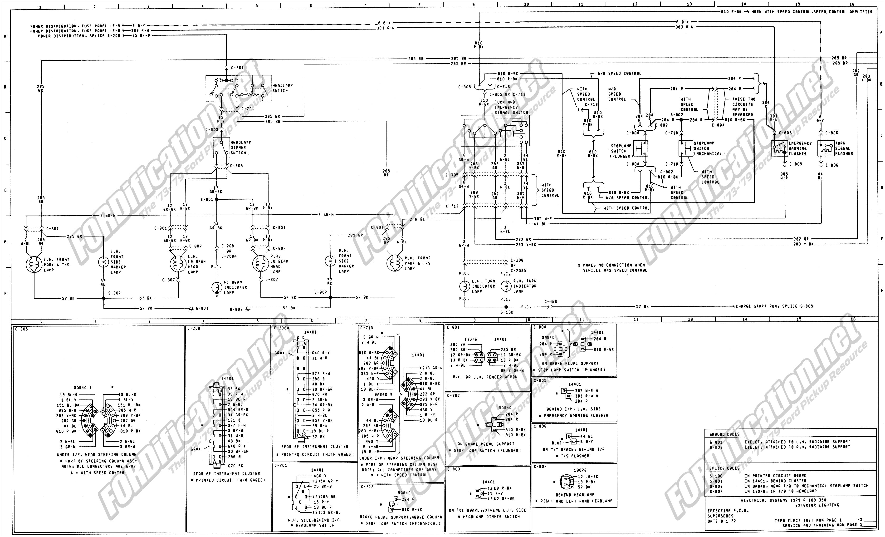 wiring_79master_5of9 1973 1979 ford truck wiring diagrams & schematics fordification net ford wiring schematics at crackthecode.co