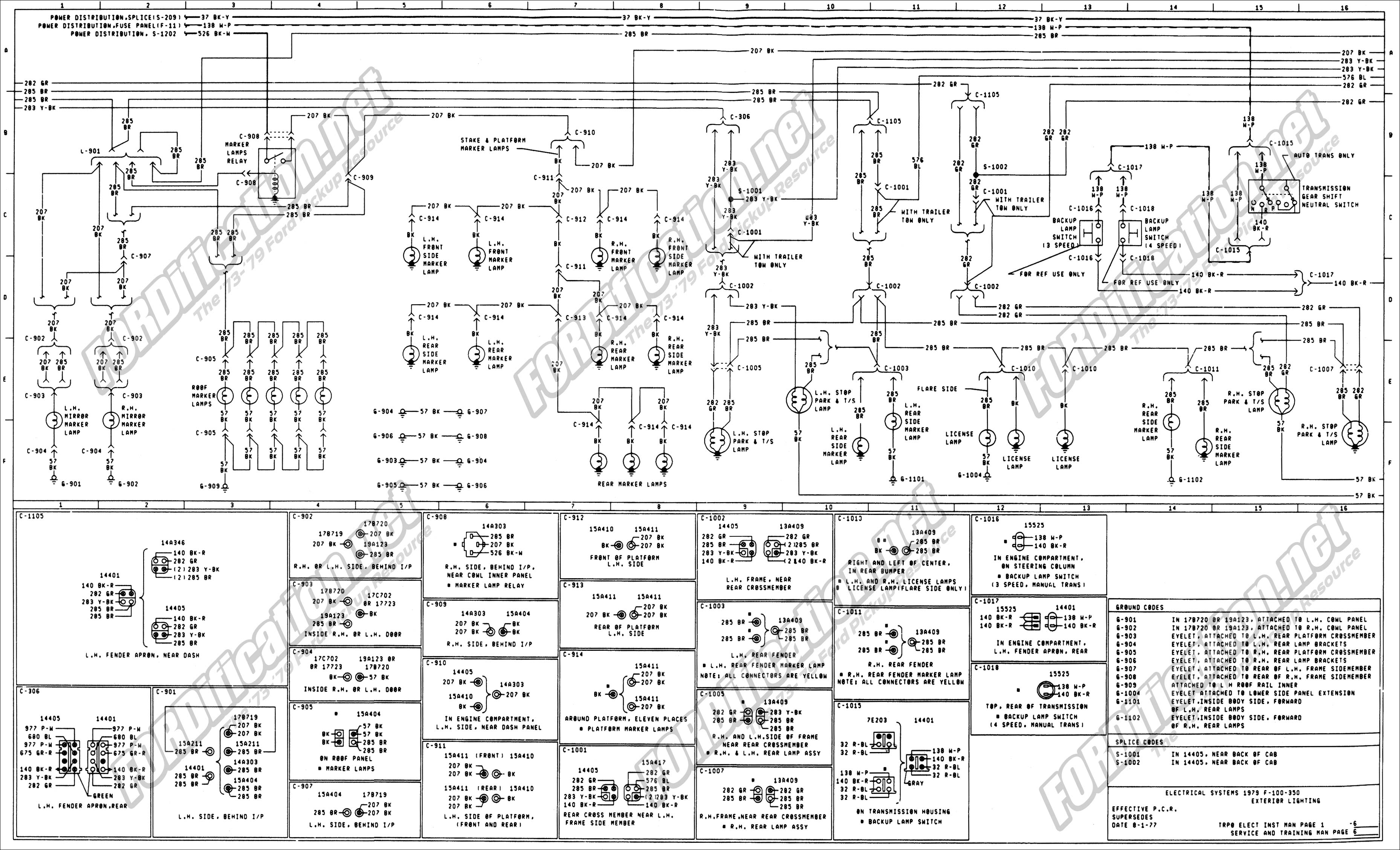 wiring_79master_6of9 1973 1979 ford truck wiring diagrams & schematics fordification net wiring harness diagram at metegol.co