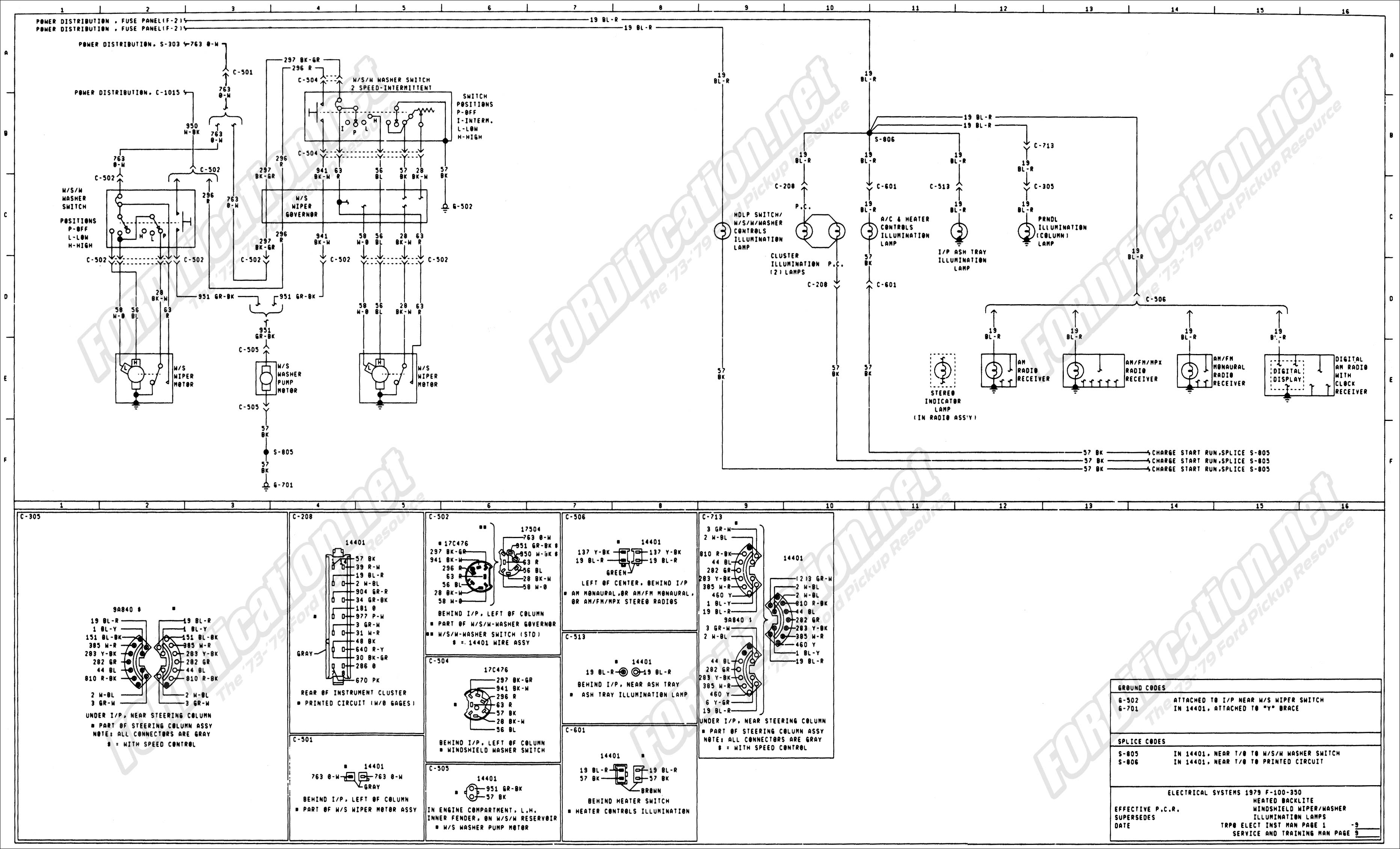 wiring_79master_9of9 1973 1979 ford truck wiring diagrams & schematics fordification net 1999 Ford F-250 Wiring Diagram at n-0.co