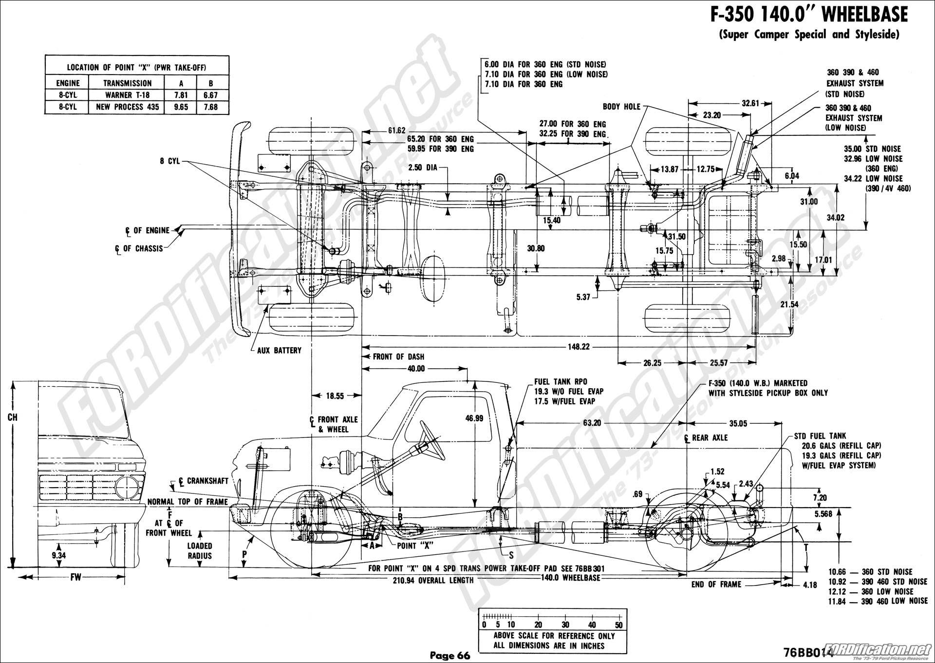 f 150 frame diagram 1976 ford body builder s layout book fordification net  1976 ford body builder s layout book