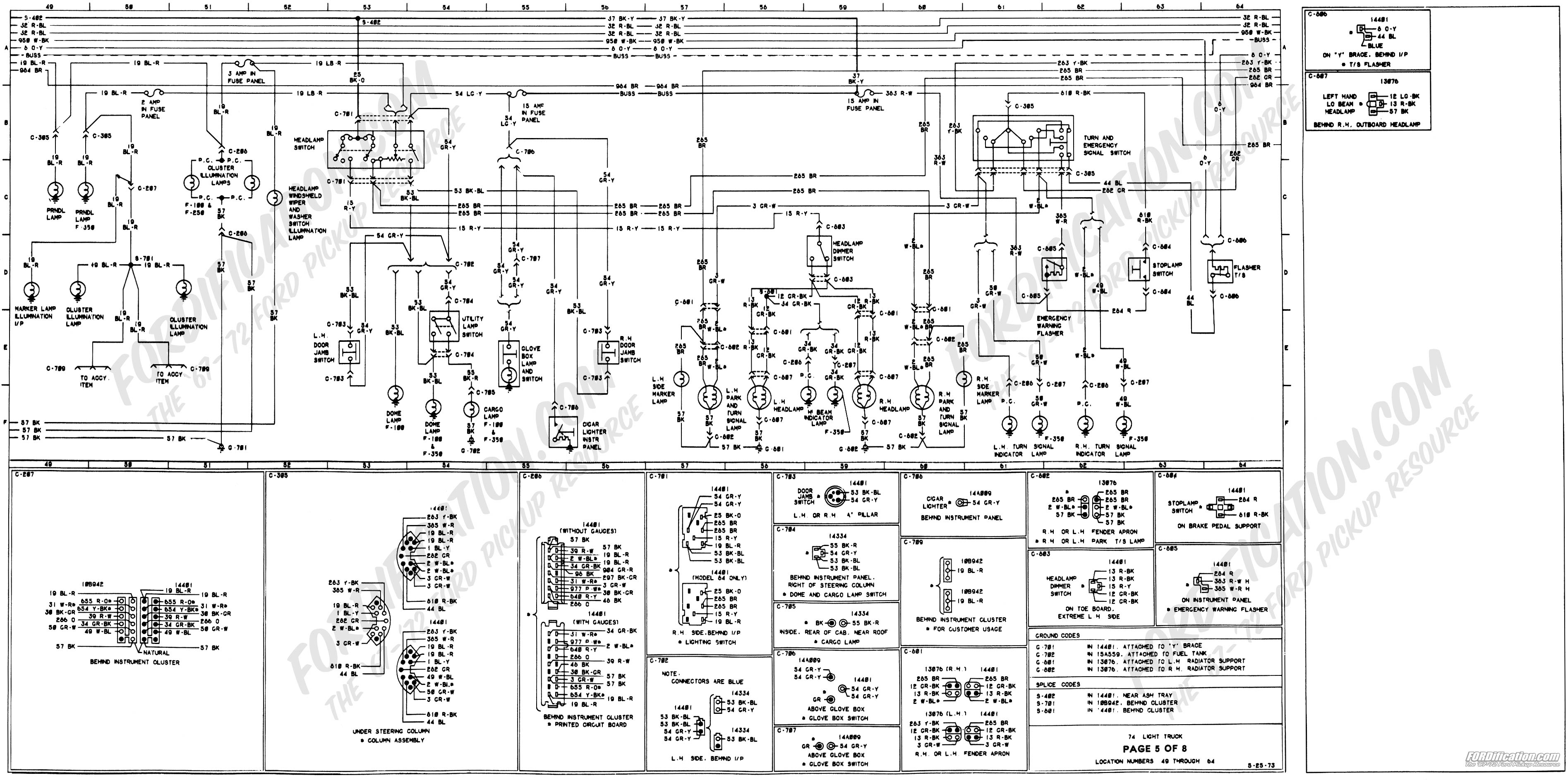 1973 1979 Ford Truck Wiring Diagrams Schematics 73 Chevy 350 Starter Diagram 3790 X 1887 861k