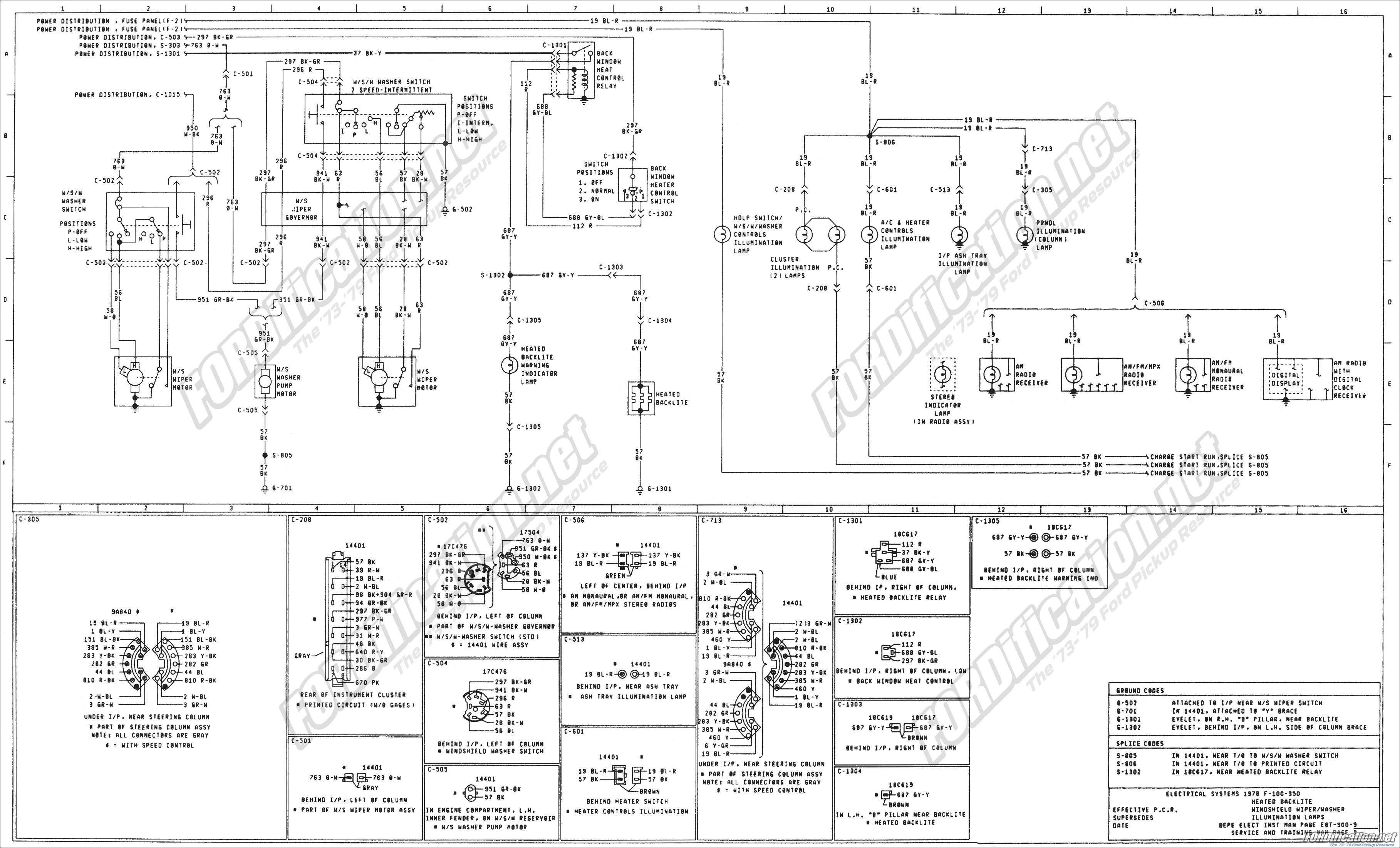 1979 sportster wiring diagram 1979 f350 wiring diagram 1973-1979 ford truck wiring diagrams & schematics ...