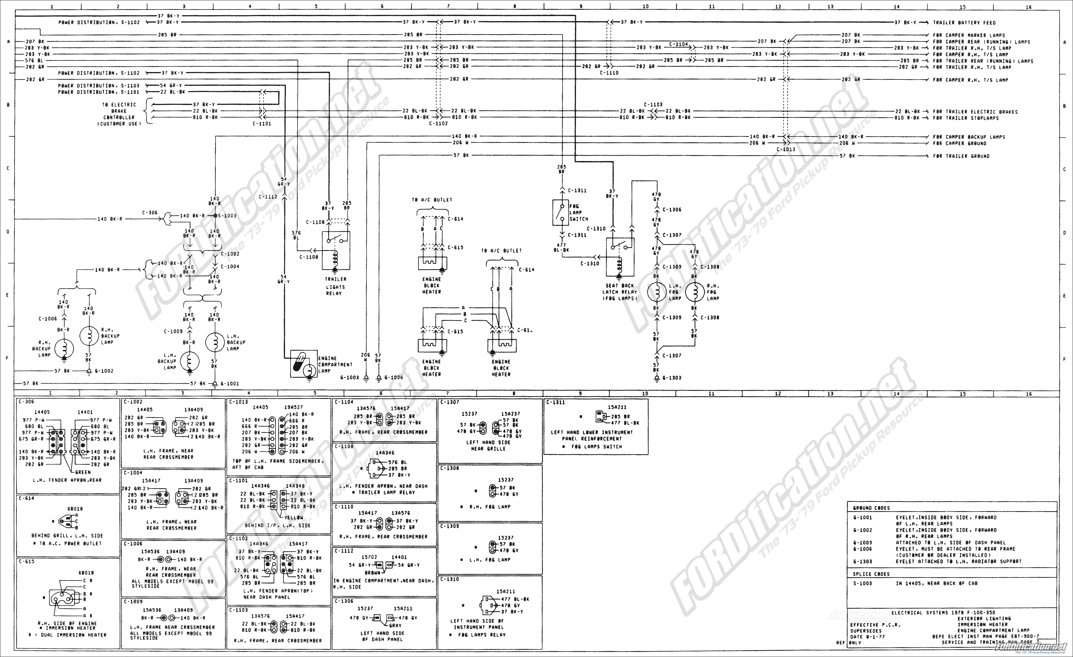 1973 1979 Ford Truck Wiring Diagrams Schematics 78 Chevy C10 Ke Light Diagram Get Free Image About Page 08